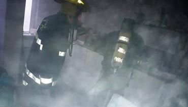إخماد حريق في عيادة أسنان في صيدا والاضرار مادية