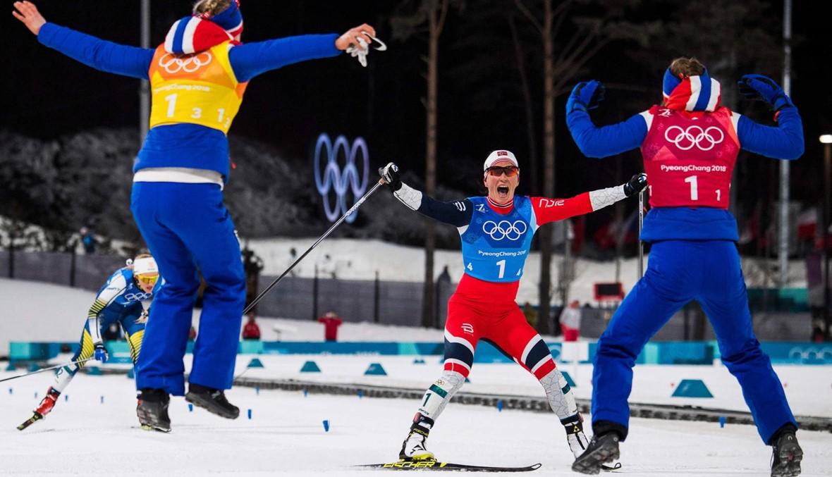 النروجية بيورغن تتربّع على عرش الألعاب الشتوية (صور)