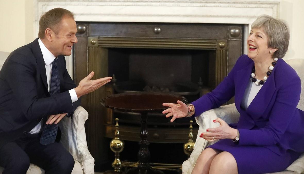 """توسك في لندن: """"واثق"""" من موافقة الاتّحاد الأوروبي على معاهدة """"بريكست"""""""
