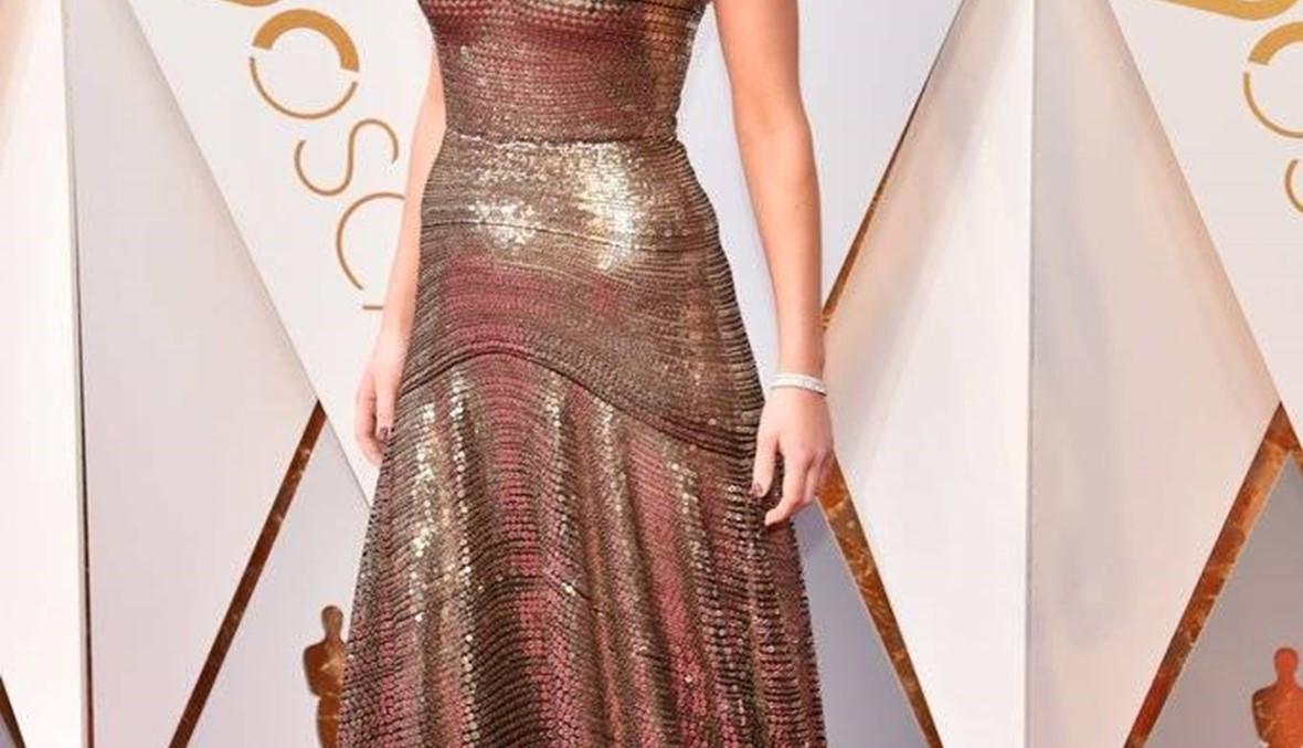Jennifer Lawrence  تألّقت بفستان ديور في الأوسكار