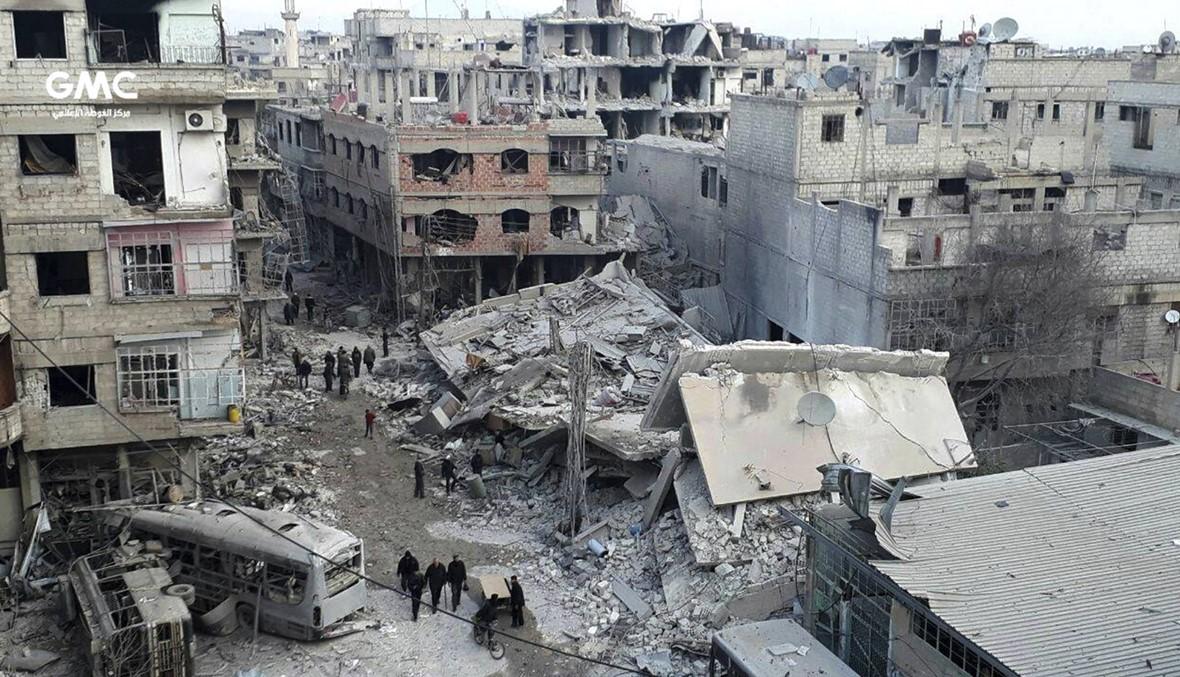 معارك في الغوطة الشرقية... جثث تحت أنقاض أبنيتها