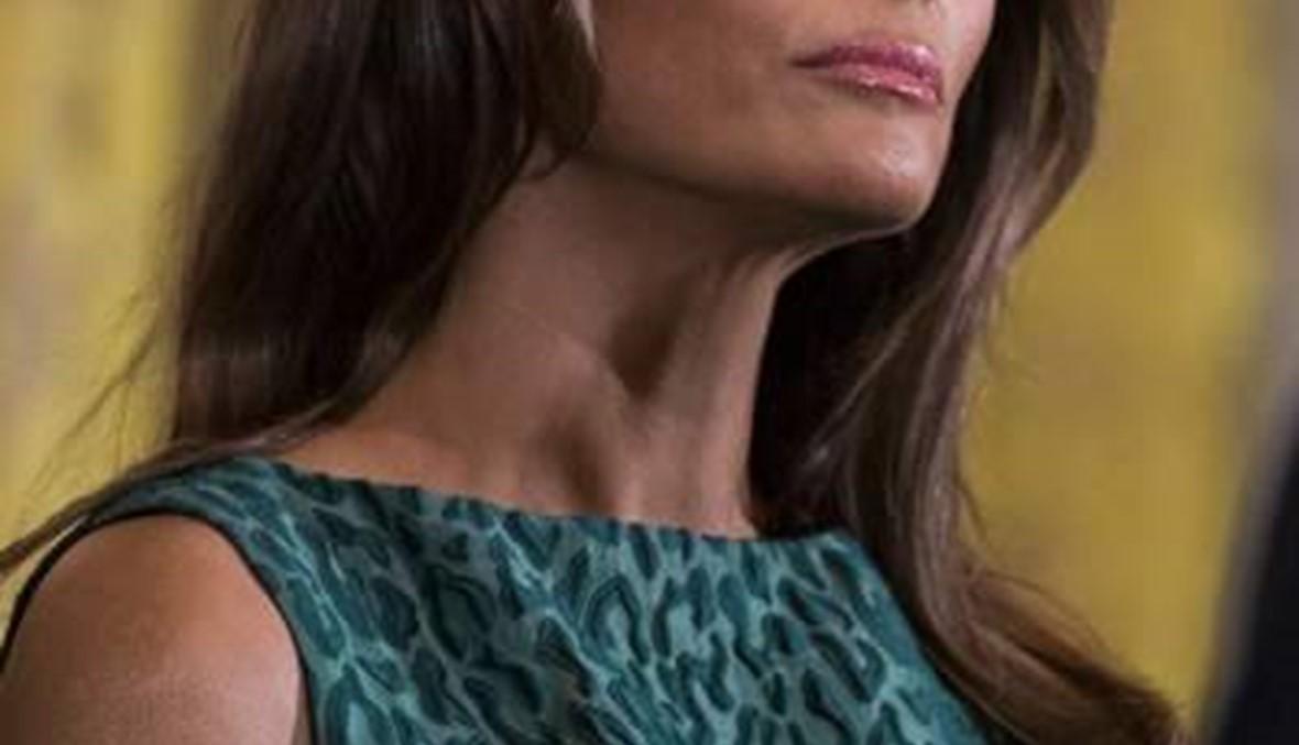 ميلانيا ترامب تتألق بفستان من تصميم Brandon Maxwell