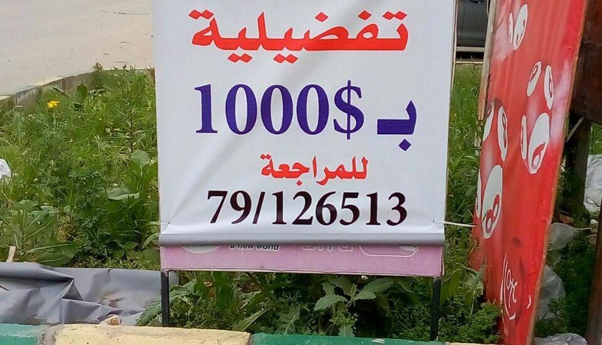 """""""3 أصوات تفضيلية بـ1000 دولار""""... ما حقيقة هذه اللافتة؟"""