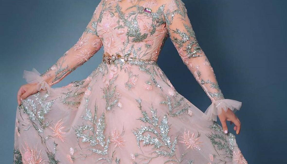 أحلام تتألّق بفستان من تصميم زهير مراد