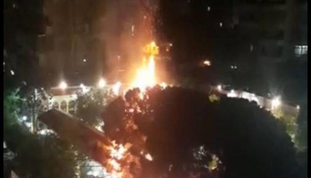 بالصور والفيديو- حريق داخل مطعم في الضاحية الجنوبية