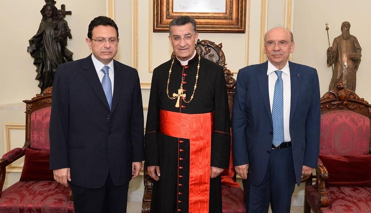 """الراعي التقى مسؤولاً قبرصياً والسفير الفرنسي والخازن أعلن من بكركي كتلة """"قلب القرار"""""""