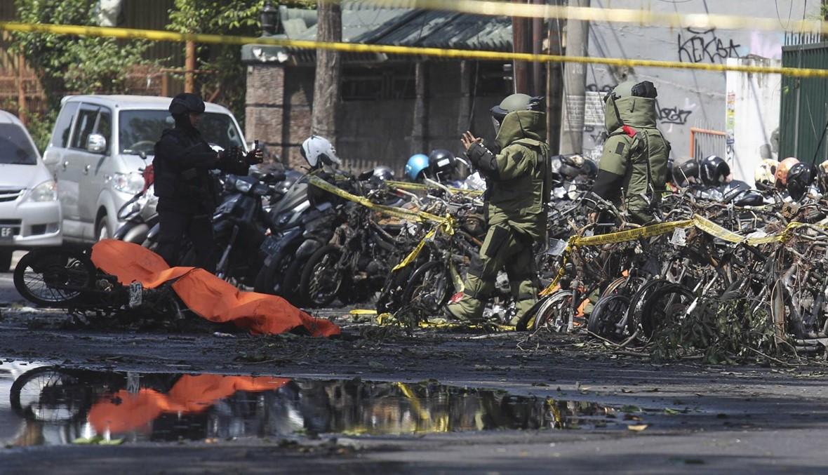 """اندونيسيا: عائلة انتحارية """"داعشية"""" شاركت في الاعتداءات ضد الكنائس (صور)"""