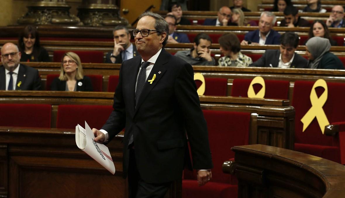 """نواب كاتالونيا سينتخبون مرشّح بوتشيمون رئيساً... تورا وعد بـ""""العمل بلا هوادة"""""""