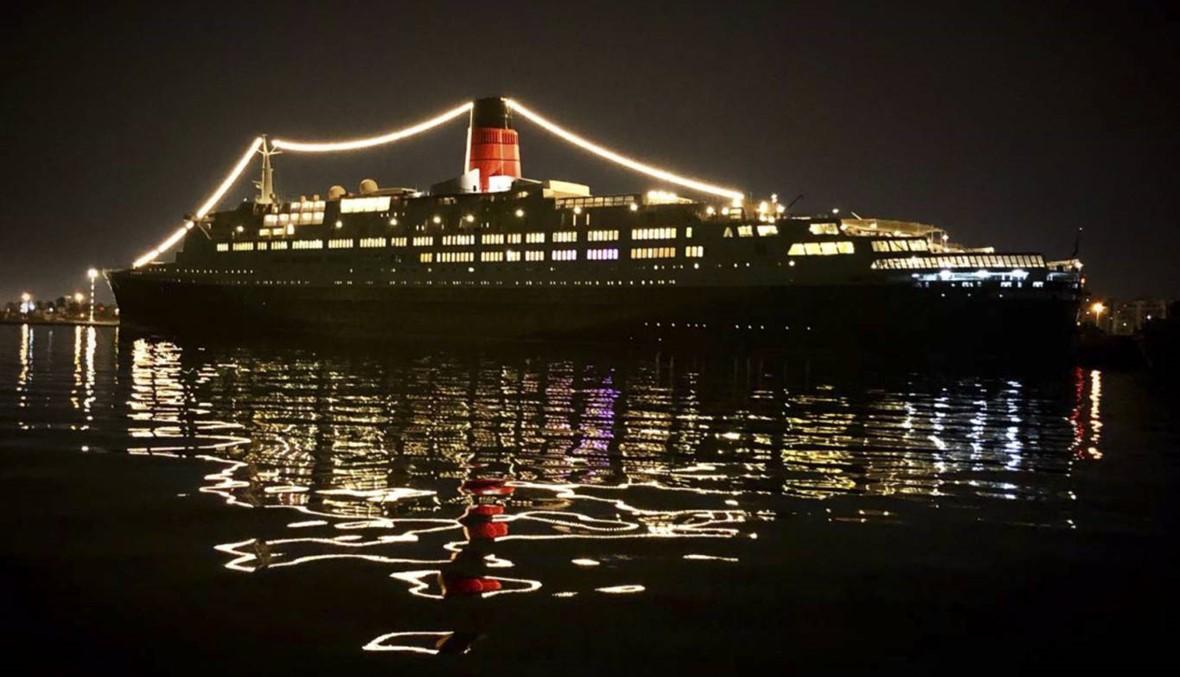 سفينة تحتفي بالزفاف الملكي في دبي