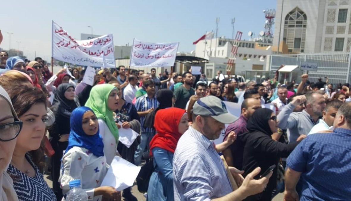 موظفو المستشفيات الحكومية قطعوا الطريق أمام وزارة الصحة