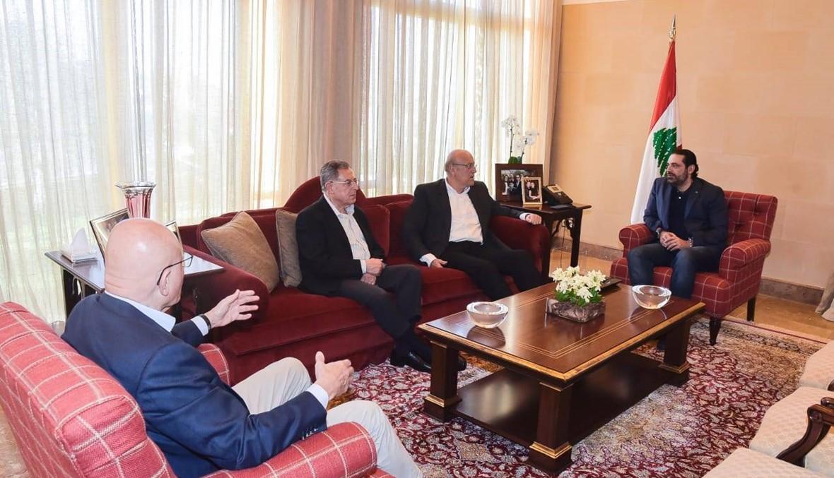 """لقاء تشاوري في """"بيت الوسط"""" يجمع الحريري ورؤساء الحكومات السابقين"""