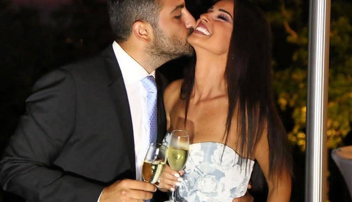 """""""نعم لنصفي الآخر، السعادة تغمر قلبي""""... زفاف نيكول الحجل (صور وفيديوات)"""