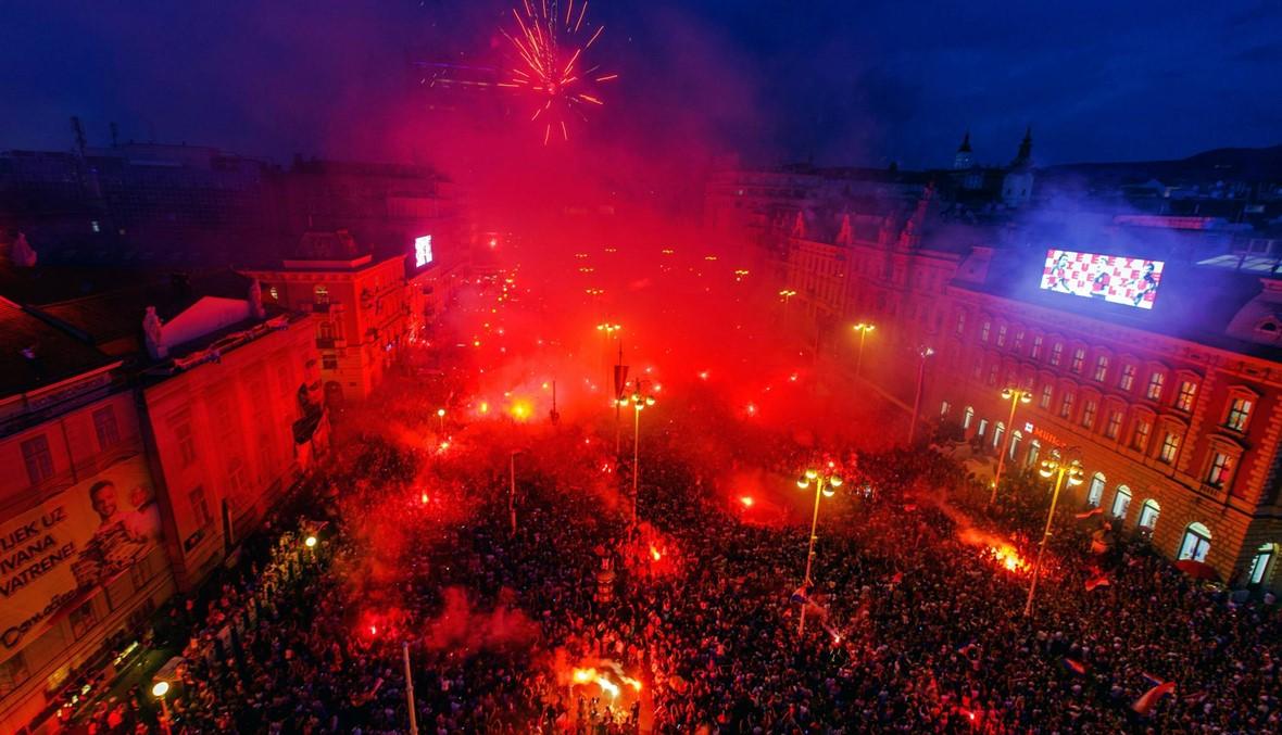 آلاف الكرواتيين يستقبلون وصيف المونديال بالغناء