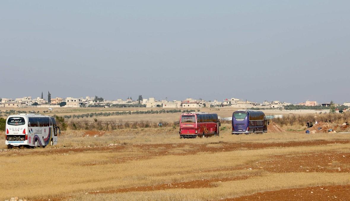 دخول حافلات لإجلاء سكان من كفريا والفوعة (صور)