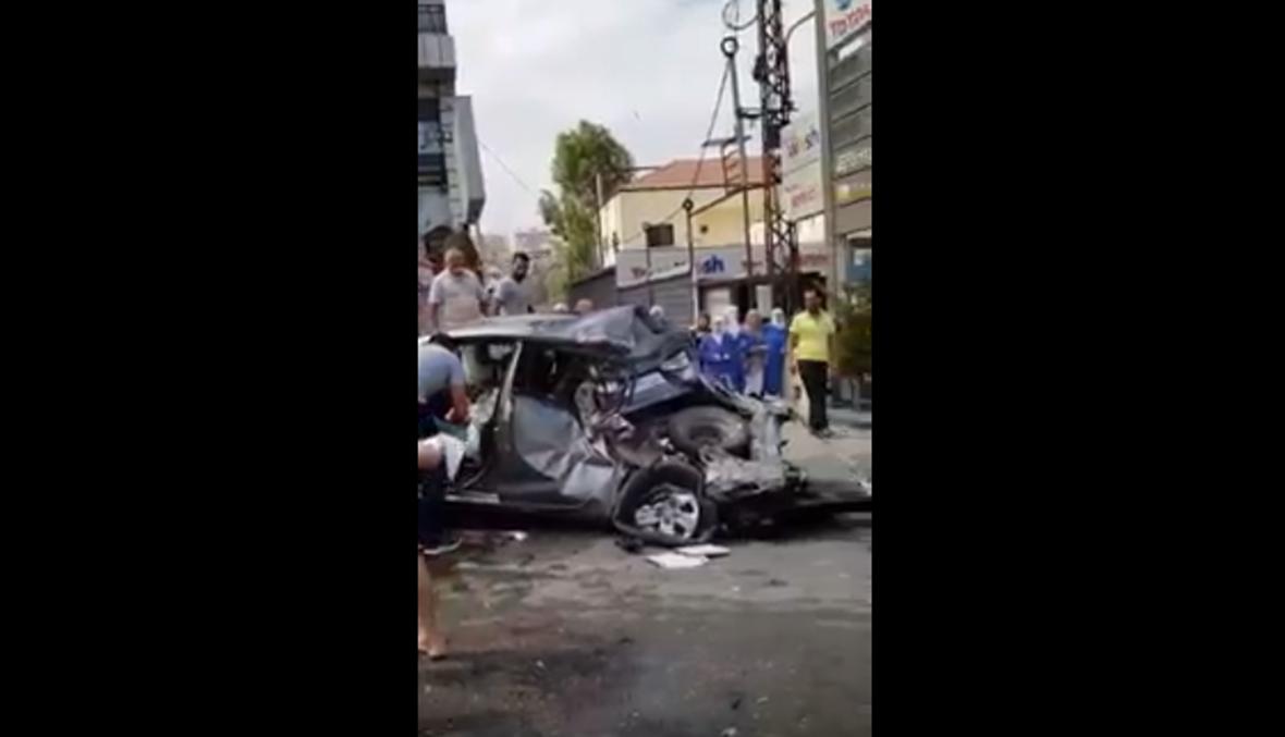 بالفيديو - حادث مروع في بشامون