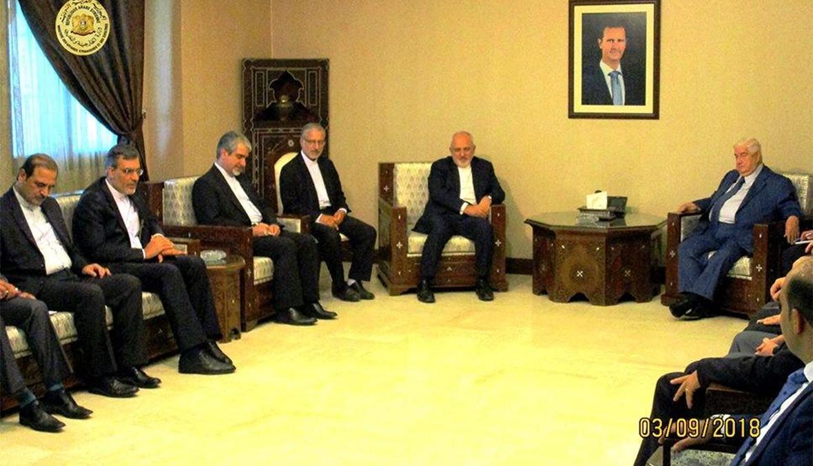 ظريف في دمشق... لقاء مع المعلم تحضيراً للقمّة الرئاسيّة الثلاثيّة في طهران