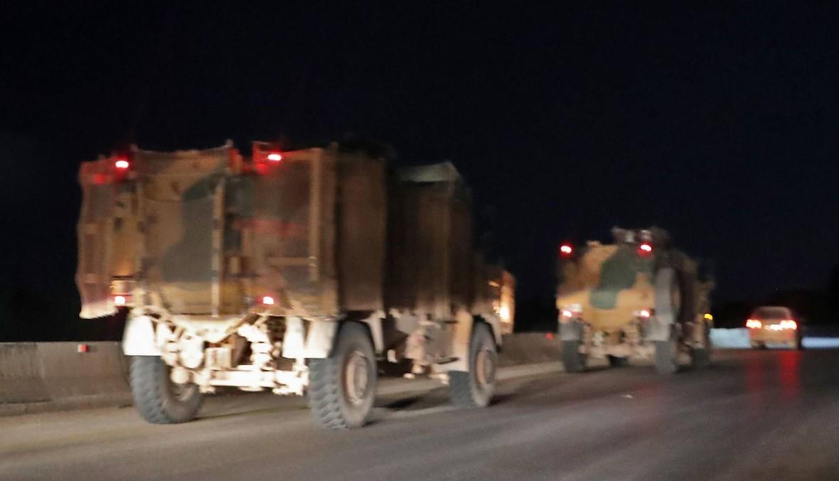 دخول رتل تركي ليلاً الى محافظة ادلب في شمال غرب سوريا
