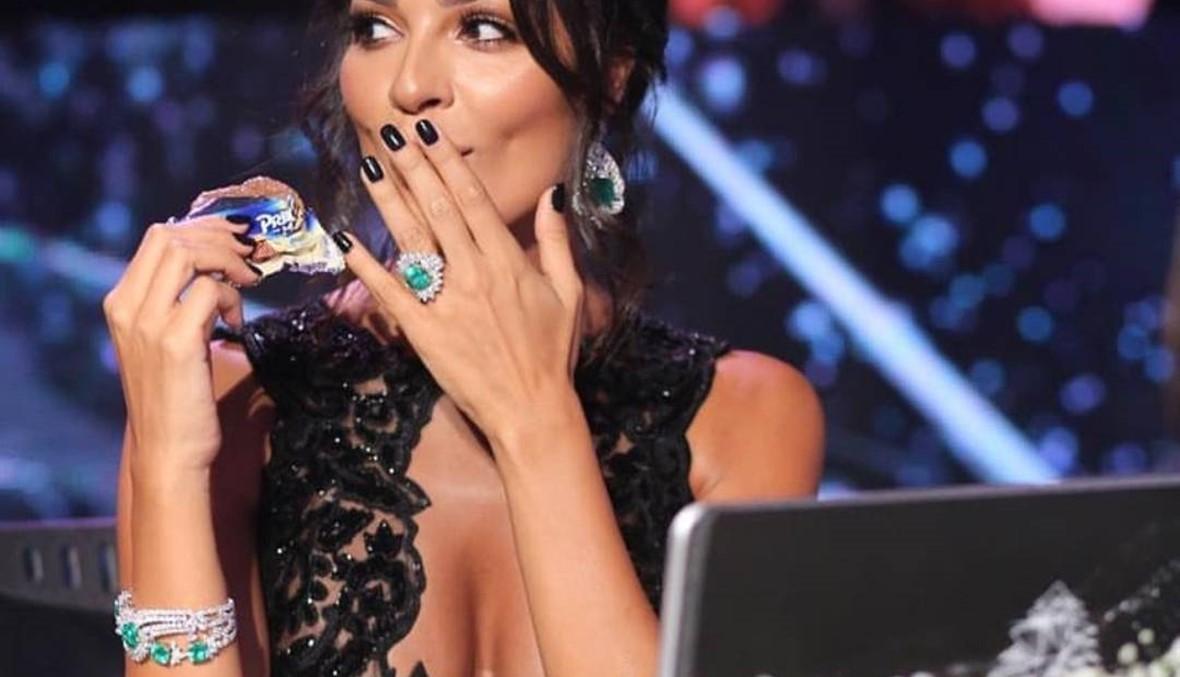 ماذا ارتدت نادين نجيم في انتخابات ملكة جمال لبنان؟