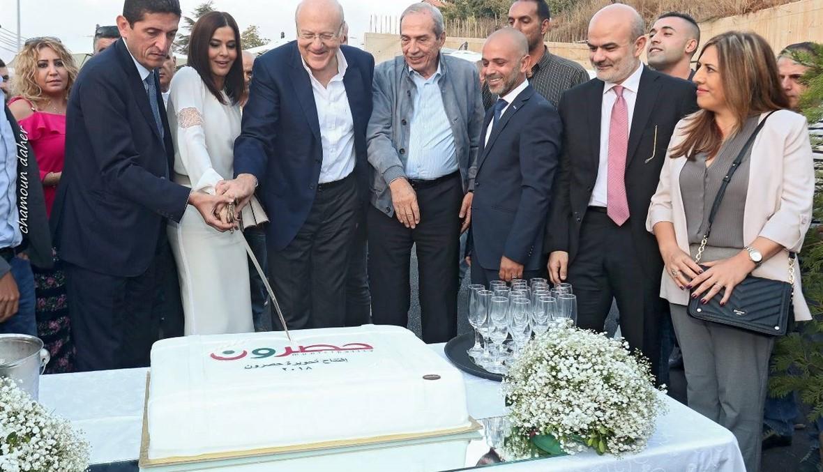 ستريدا جعجع: تحويرة حصرون تسهم في إطلاق السياحة وميقاتي: تراب لبنان يخصّنا جميعاً