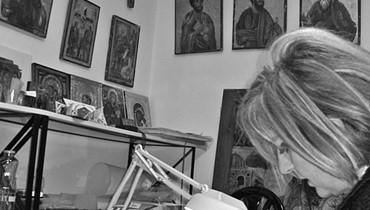 25 عاماً مسيرة لينا كيليكيان في الفن المقدس والرسم رفعت إسم لبنان عالياً في المتاحف العالمية ومعارض الفن