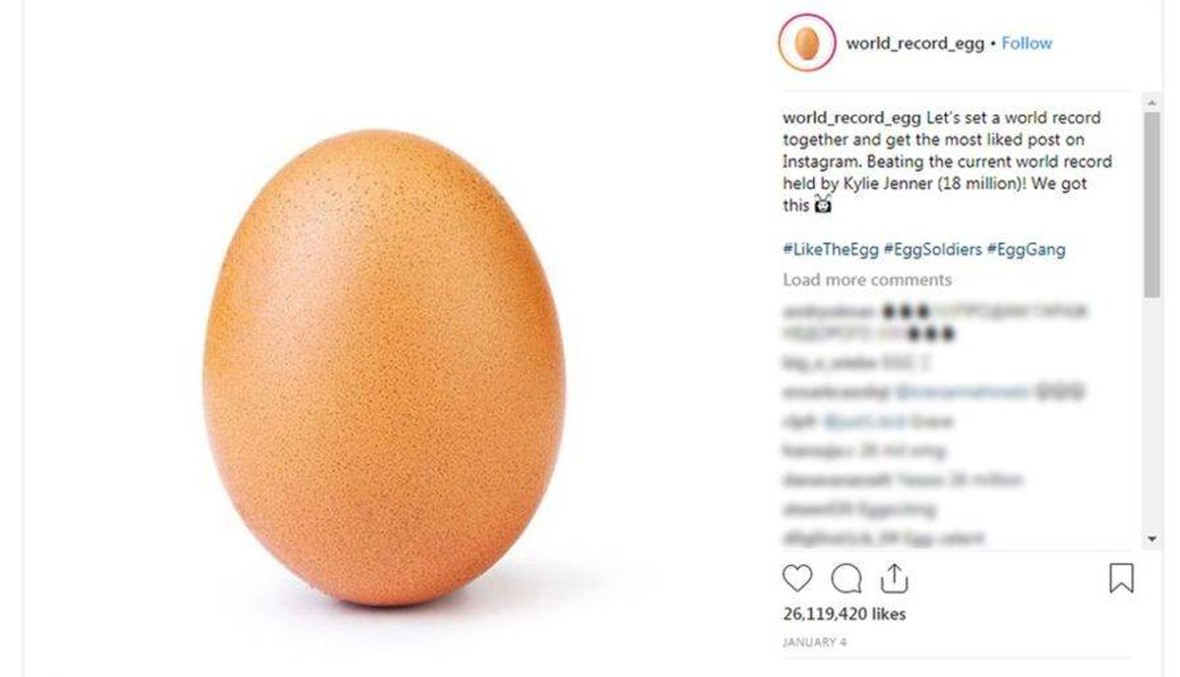"""صورةُ بيضة في """"إنستغرام"""" تكسر الأرقام القياسية: هذه قصتها!"""
