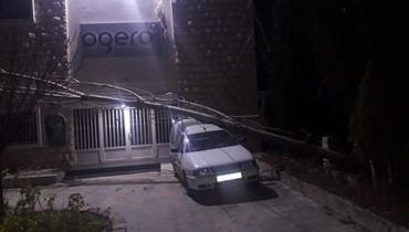 اضرار في البيوت الزراعية بسبب الرياح في عكار