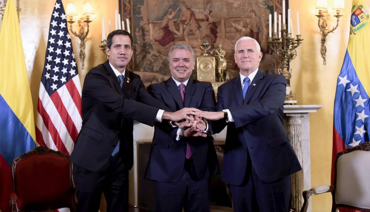 """بنس يؤكّد: """"كلّ الخيارات مطروحة"""" للتّحرك ضدّ مادورو"""