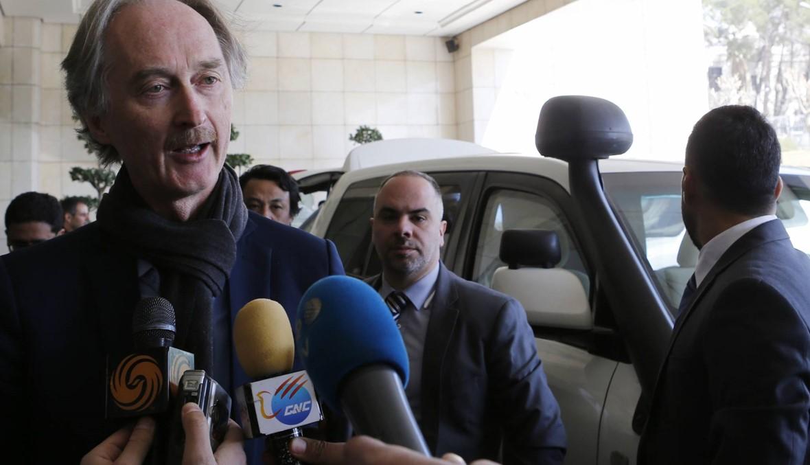 """المبعوث الأممي بيدرسون في دمشق: لقاء مع المعلم للبحث في """"الحلّ السياسي"""""""