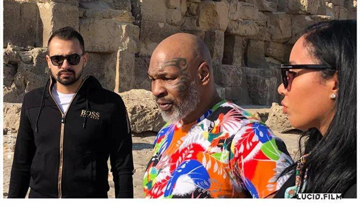 """مايك تايسون في القاهرة من أجل """"حملة فرعون"""""""