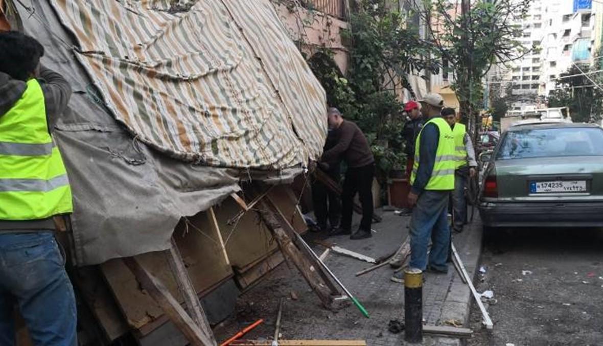 بلدية بيروت أزالت المخالفات والتعديات في منطقة المصيطبة