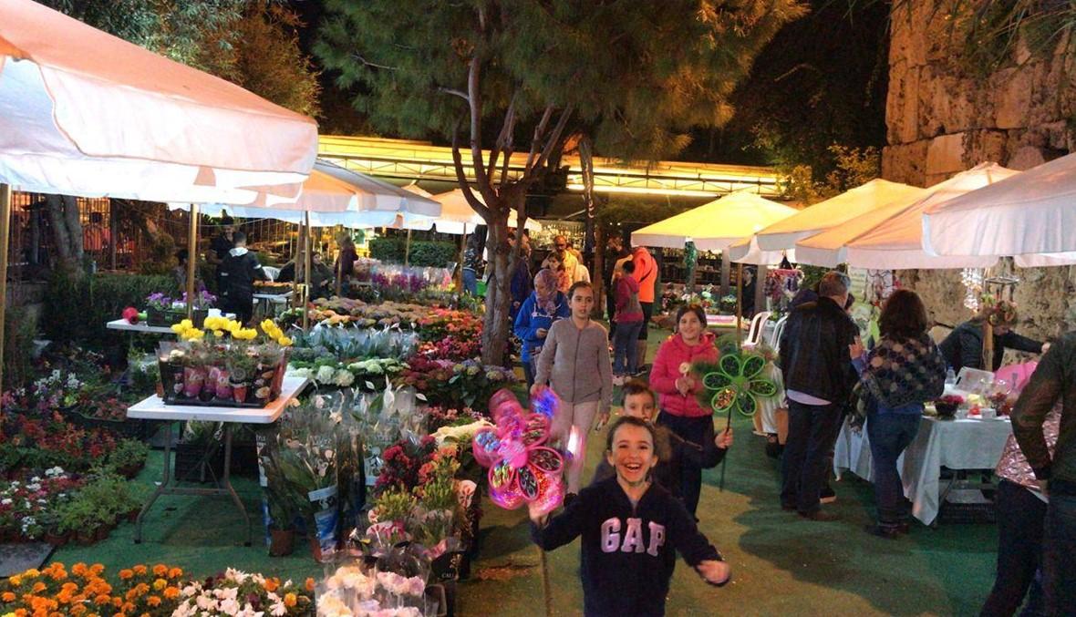 ربيع مهرجانات بيبلوس أزهر في حدائق السوق