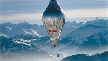 برايتلينغ تحتفل بأول رحلة منطاد حول العالم دون توقف!