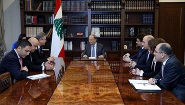 عون استقبل نائب رئيس البنك الدولي لمنطقة الشرق الاوسط