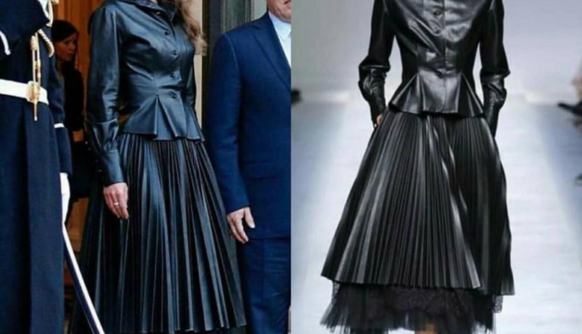 الملكة رانيا تتألق بزي أسود من Ermano Scervino