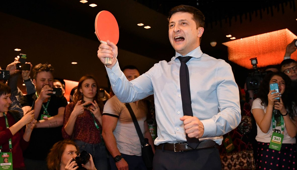 الانتخابات الرئاسيّة الأوكرانيّة: الممثل زلنسكي يتصدّر الدورة الأولى بفارق كبير