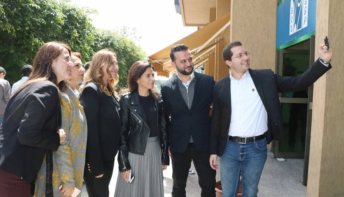Blue dawn Annahar roadshow في العربية المفتوحة الريادة في الأعمال مدخل للابتكار ونجاح المشاريع