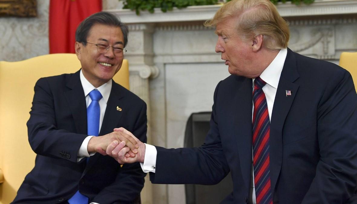 """مون في البيت الأبيض: ترامب يتكلّم على """"لقاءات جديدة"""" محتملة مع كيم"""