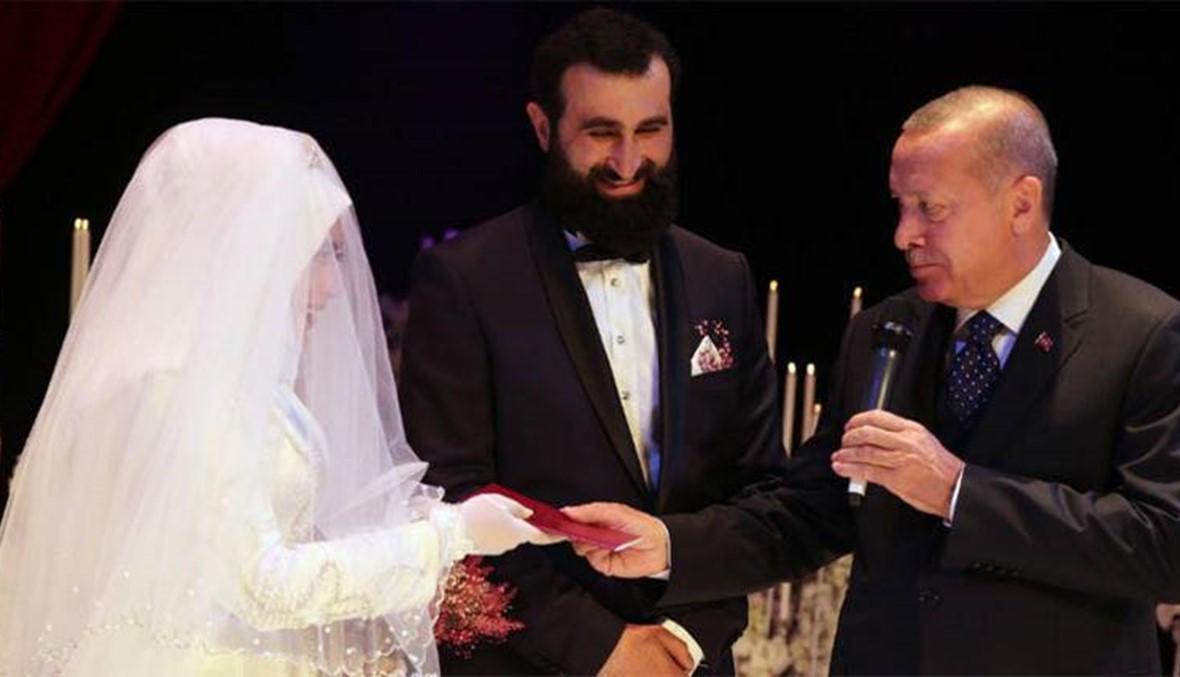 """بغياب القائد أرطغرل... إردوغان شاهداً على زواج أحد أبطال """"قيامة أرطغرل"""""""