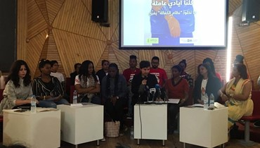 Domestic workers gather at Beit Beirut to tell their tales of abuse