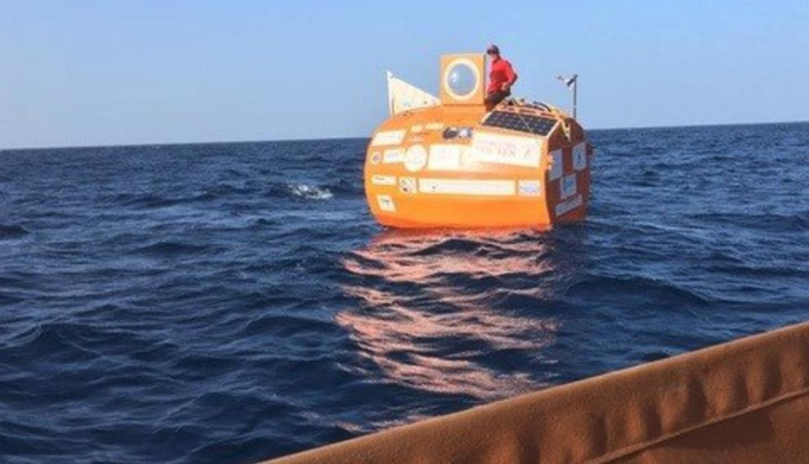 """مغامر سبعيني يعبر المحيط الأطلسي في """"برميل"""""""
