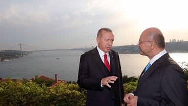 اردوغان التقى صالح تزامنا مع غارات على المسلحين الاكراد في شمال العراق