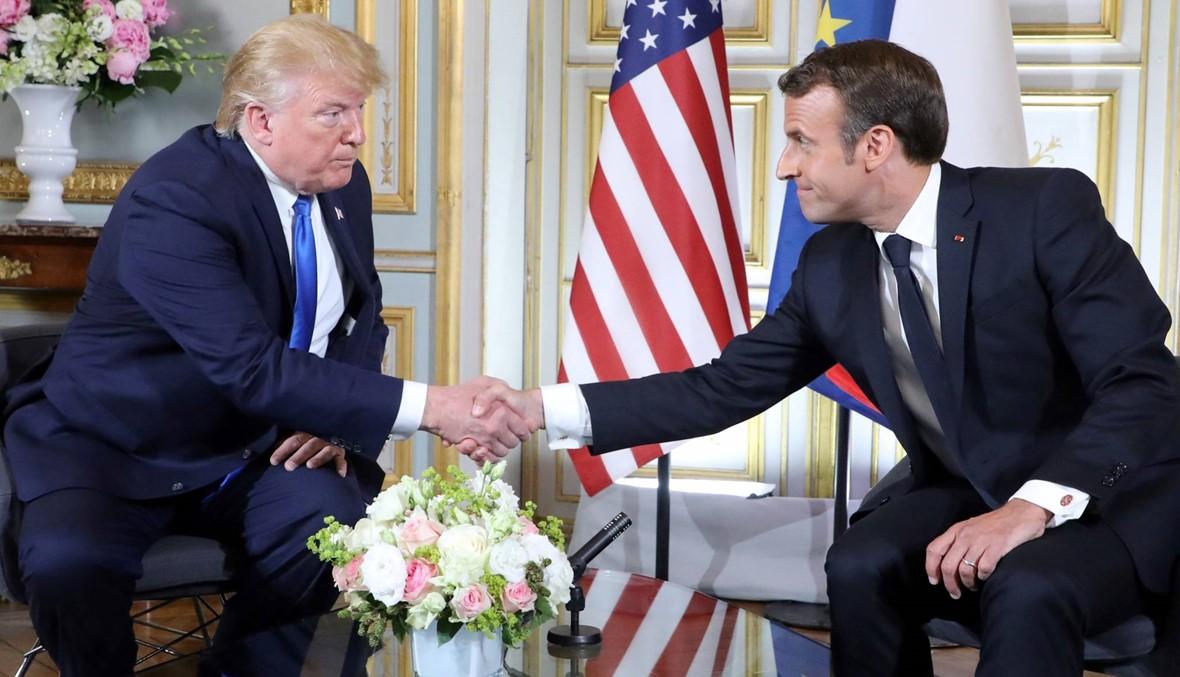 ترامب وماكرون في النورماندي: الرئيسان يأملان استئناف المفاوضات مع إيران
