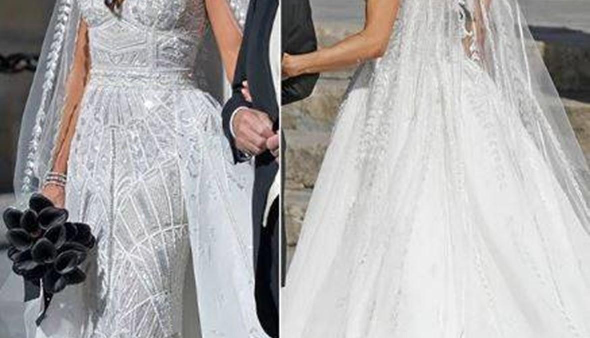 زوجة راموس تألقت بفستان زفاف من تصميم زهير مراد