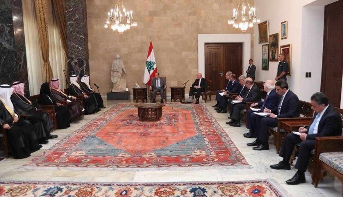 رئيس الوفد السعودي بعد لقائه عون: السعوديون مرتاحون للمجيء إلى لبنان