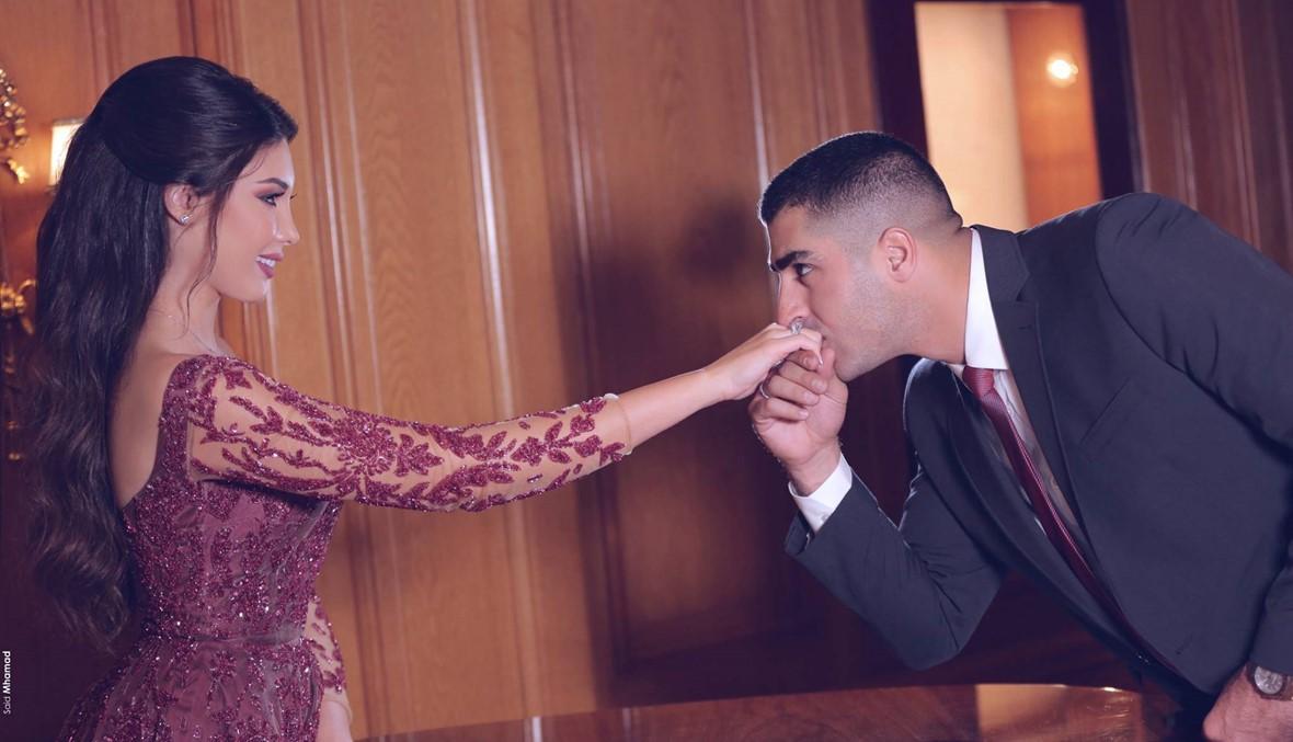 """""""عرض عسكري"""" في زفاف ملكة جمال لبنان السابقة كارن غراوي (فيديو)"""