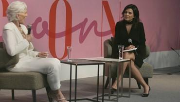"""العارضة العالميّة ماي ماسك في حديث مع نايلة تويني\r\n""""الصبيّة"""" السبعينيّة تتألّق في افتتاح JamaloukiCon"""
