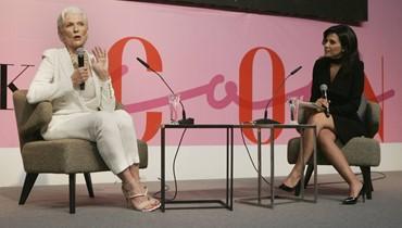 """العارضة العالميّة ماي ماسك في حديث مع نايلة تويني """"الصبيّة"""" السبعينيّة تتألّق في افتتاح JamaloukiCon"""