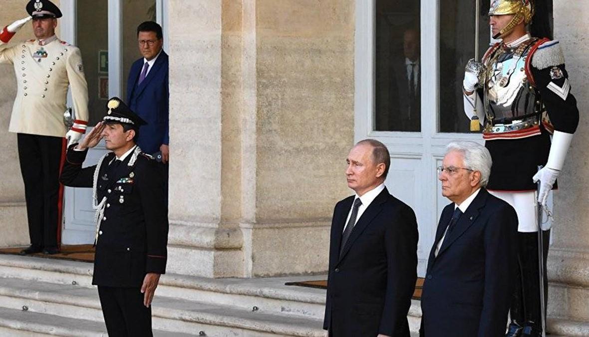 بوتين من روما: يجب أن نبذل قصارى جهدنا لوضع حد لسياسة العقوبات ذات الدوافع السياسية