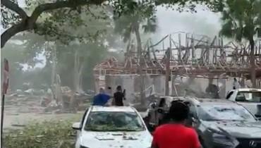 انفجار غاز بمركز تسوّق في فلوريدا... أضرار كبيرة وإصابات (فيديو)