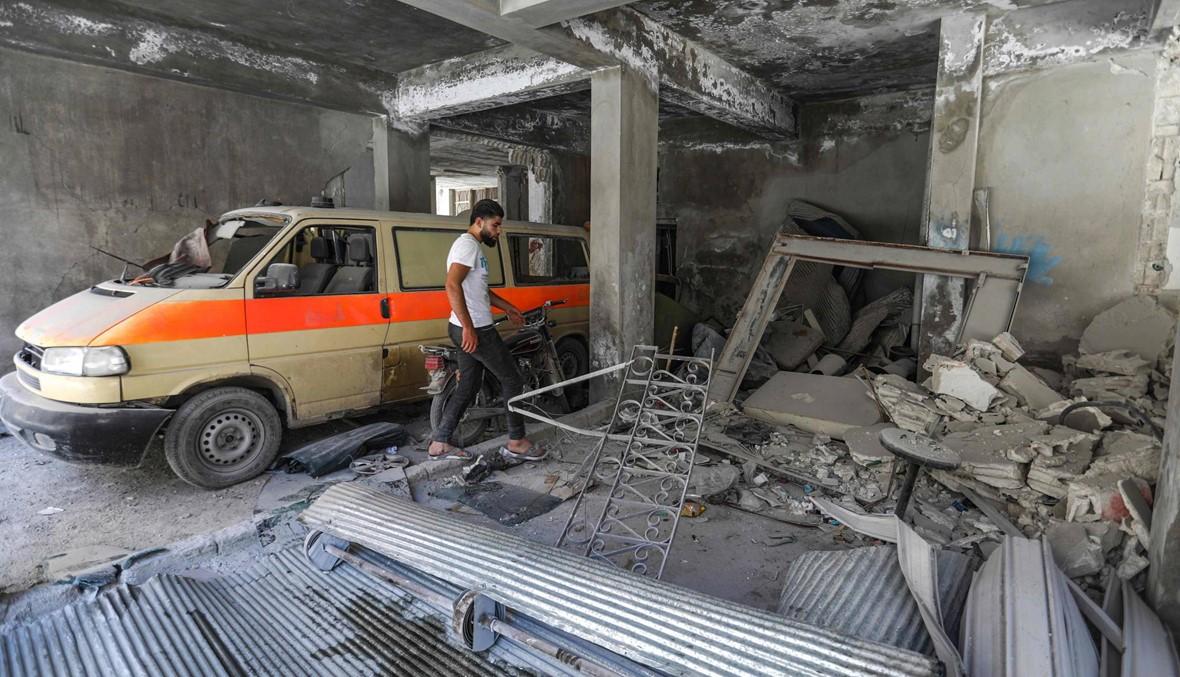 قصف جوّي على جسر الشغور: مقتل سبعة مدنيين واستهداف مستشفى